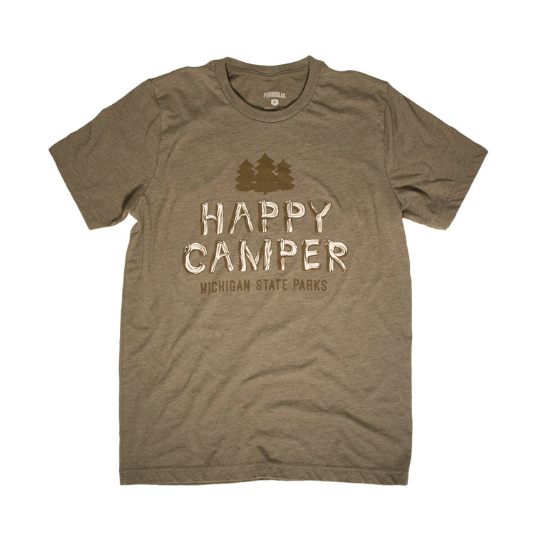 Michigan State Parks Happy Camper T-Shirt