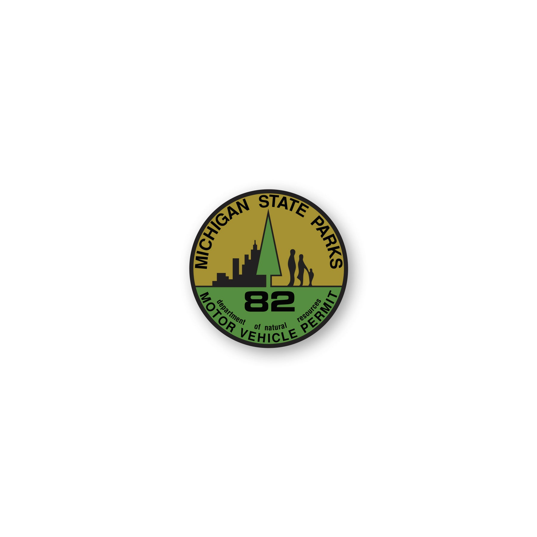 Michigan State Parks Permit Sticker - 1982