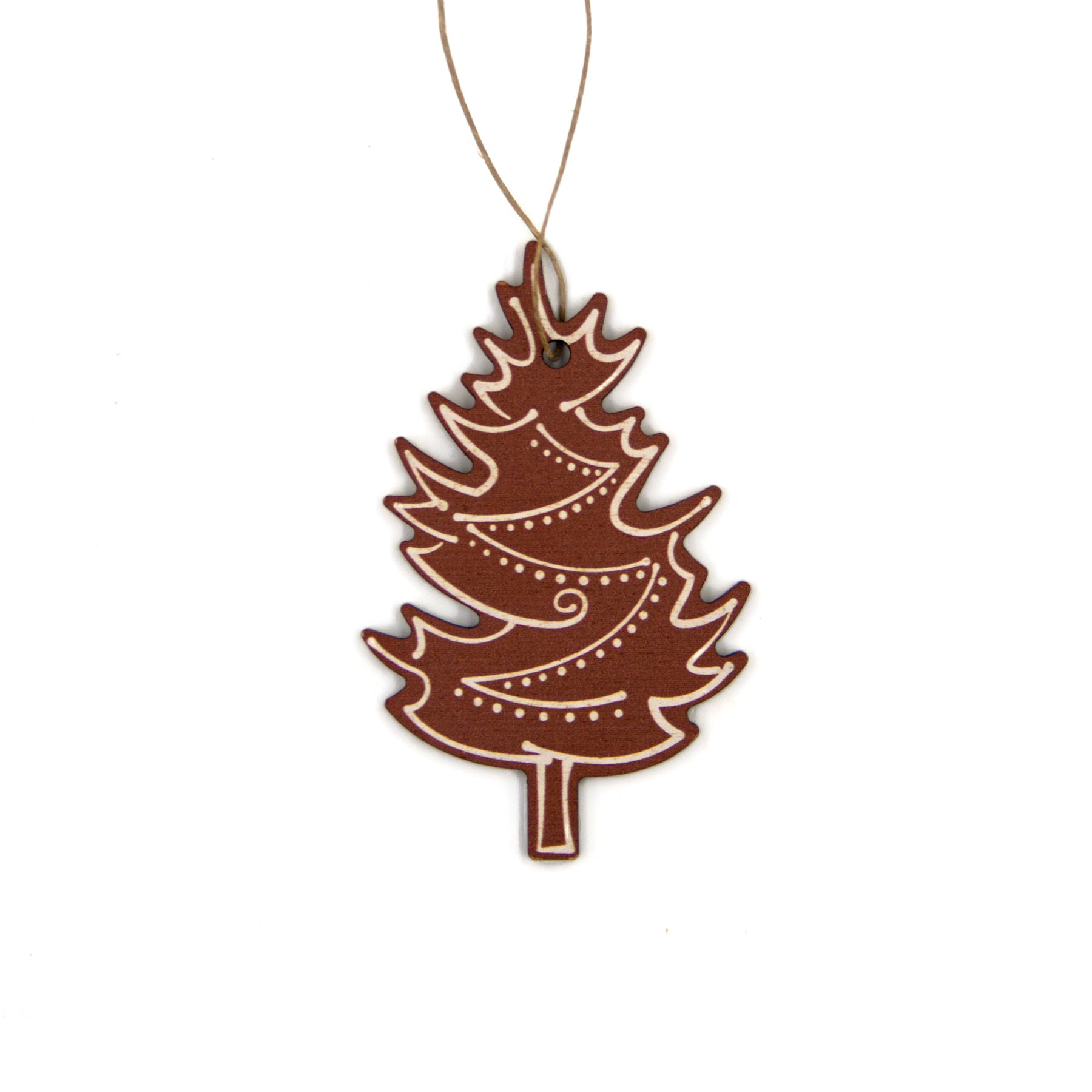 Michigan White Pine Gingerbread Wood Ornament