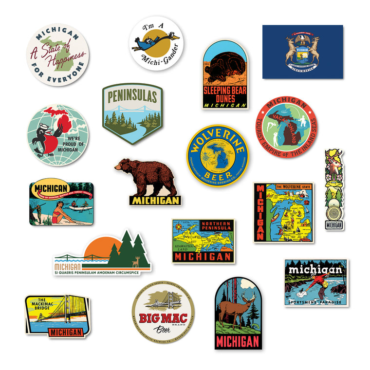 Michigan Sticker Bundle