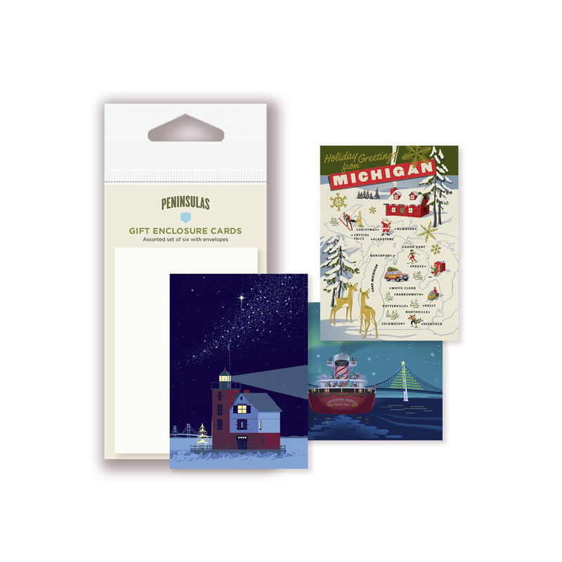 Michigan Themed Gift Enclosure Card Assortment