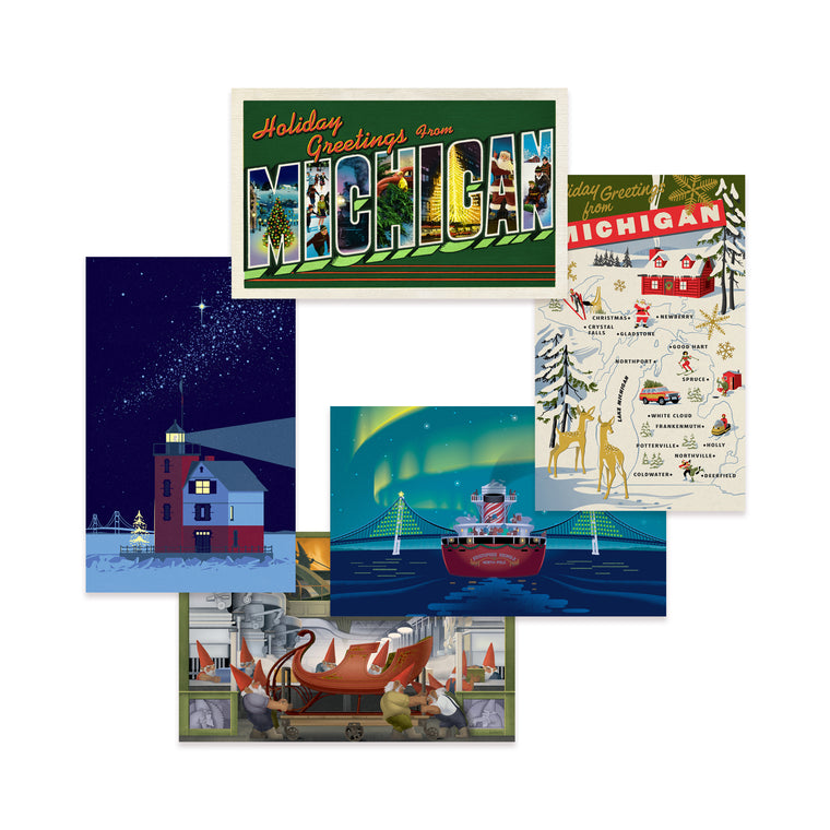 Michigan Themed Holiday Card Assortment