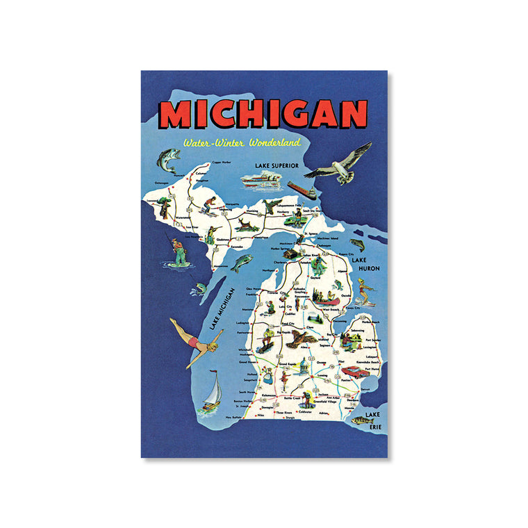 Michigan Water-Winter Wonderland Postcard