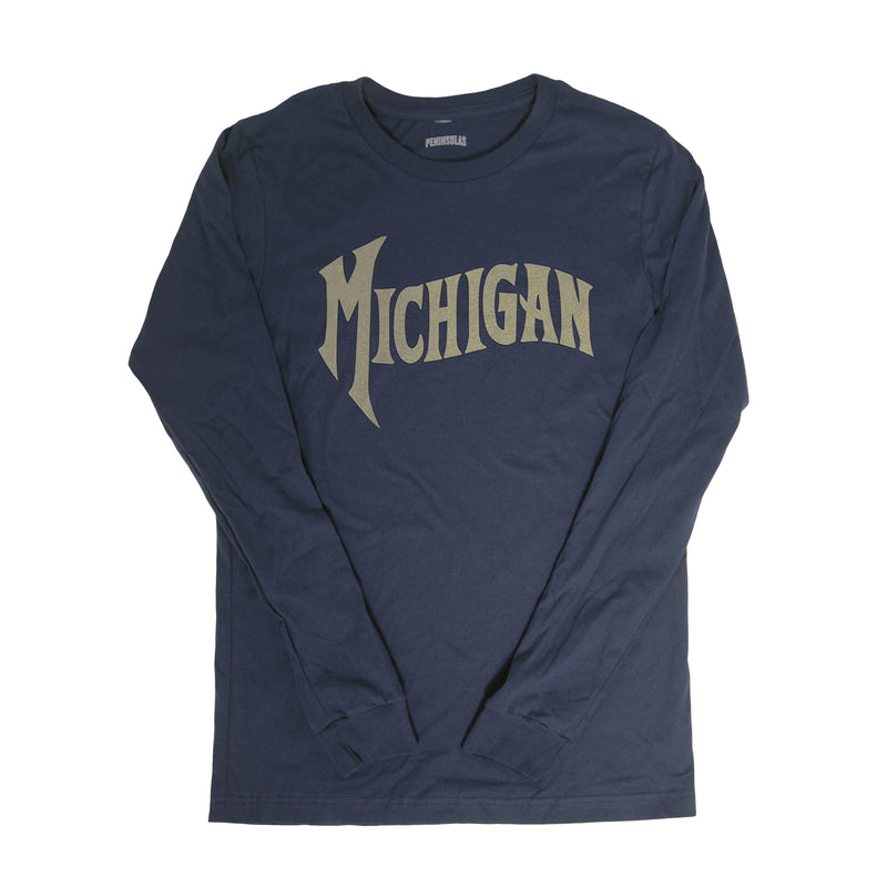 Michigan Wave Long-Sleeved T-Shirt