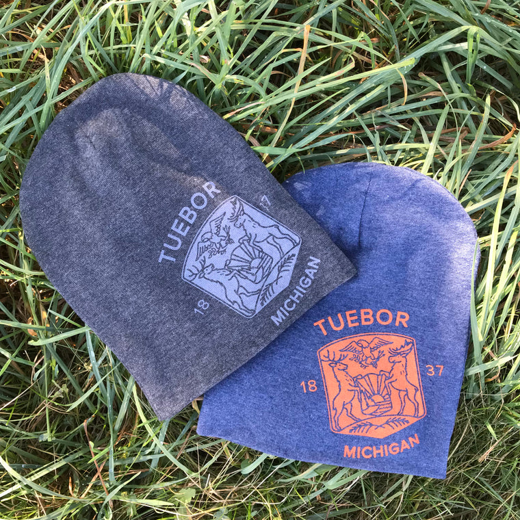 Modern Michigan Seal Beanie
