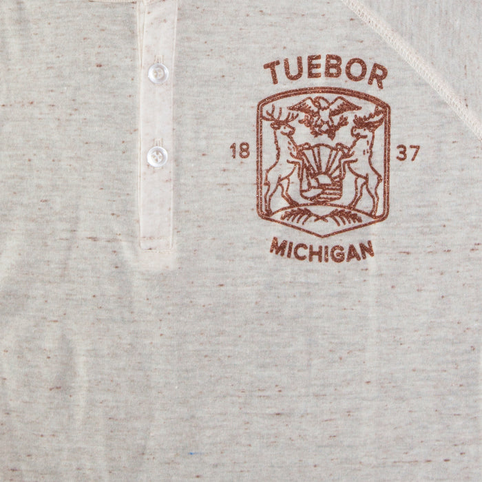 Modern Michigan Seal Henley