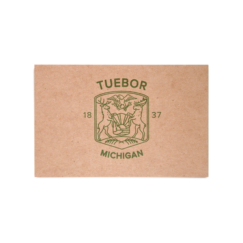 Modern Michigan Seal Kraft Postcard