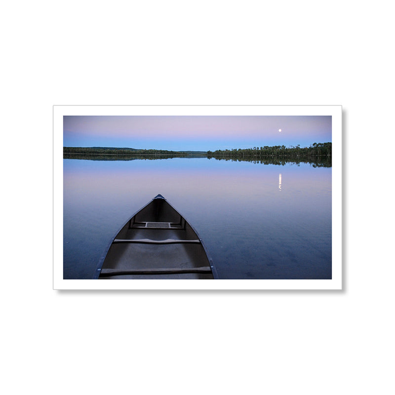 Moonrise Canoe Postcard