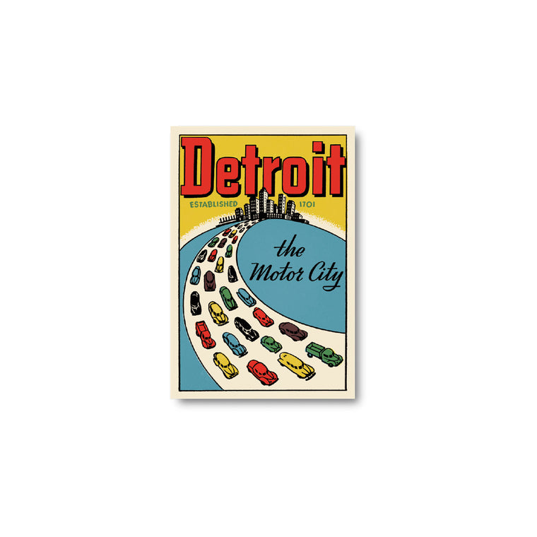 Detroit Motor City Sticker