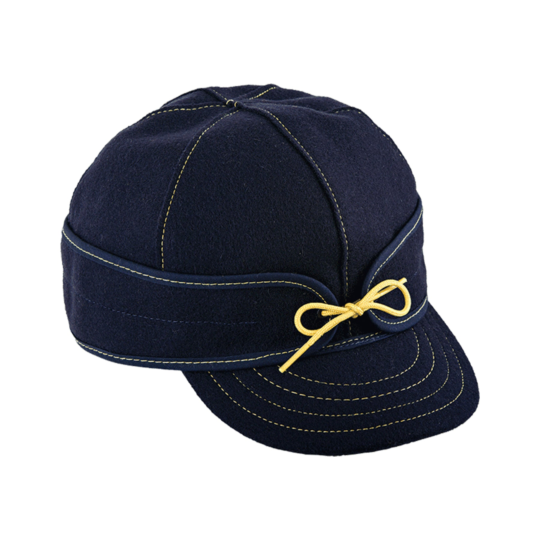 Original Stormy Kromer Wool Cap - Navy & Gold
