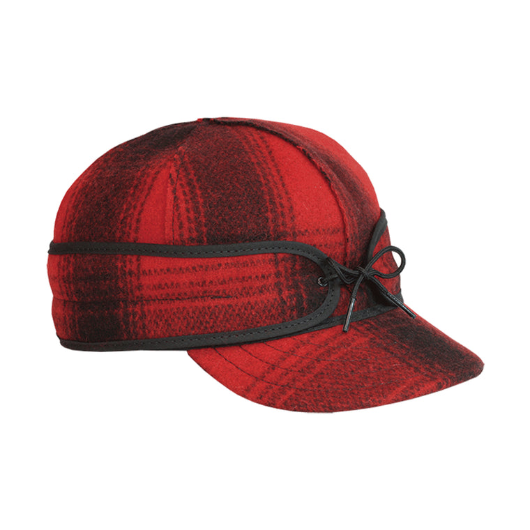 Original Stormy Kromer Wool Cap - Red & Black Plaid