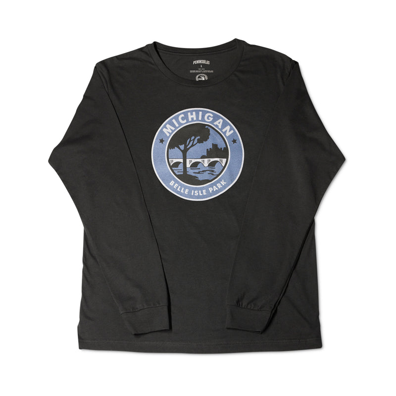 Parks Trails Waterways Belle Isle Long-Sleeved T-Shirt