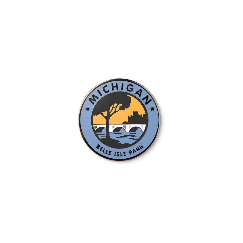 Parks Trails Waterways Belle Isle Enamel Pin
