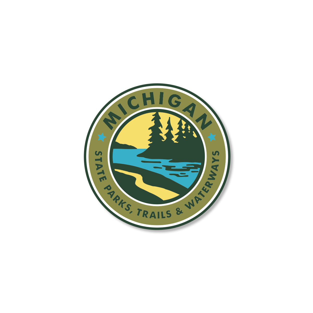 Parks Trails Waterways Michigan Sticker