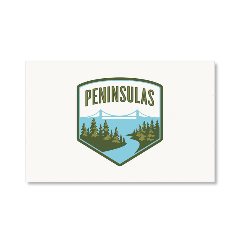 Peninsulas Full Color Logo Postcard