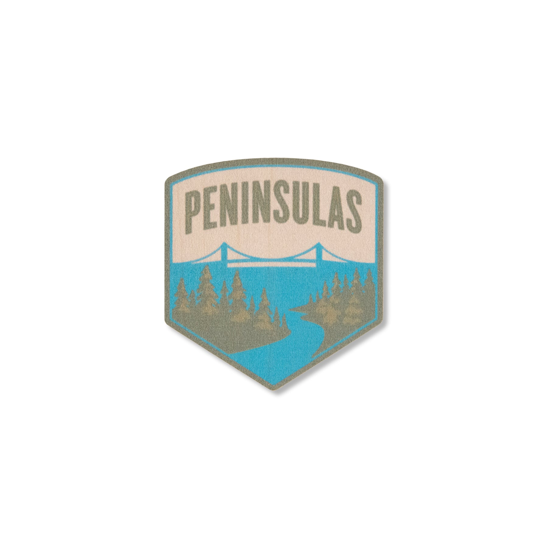 Peninsulas Logo Wood Sticker