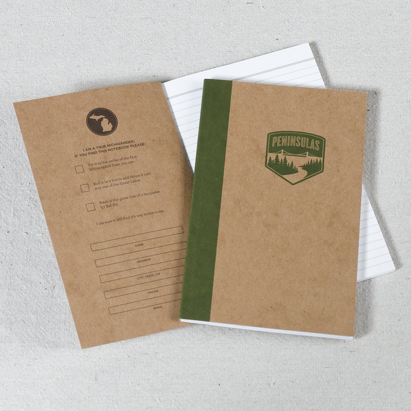 Peninsulas Logo Notebook