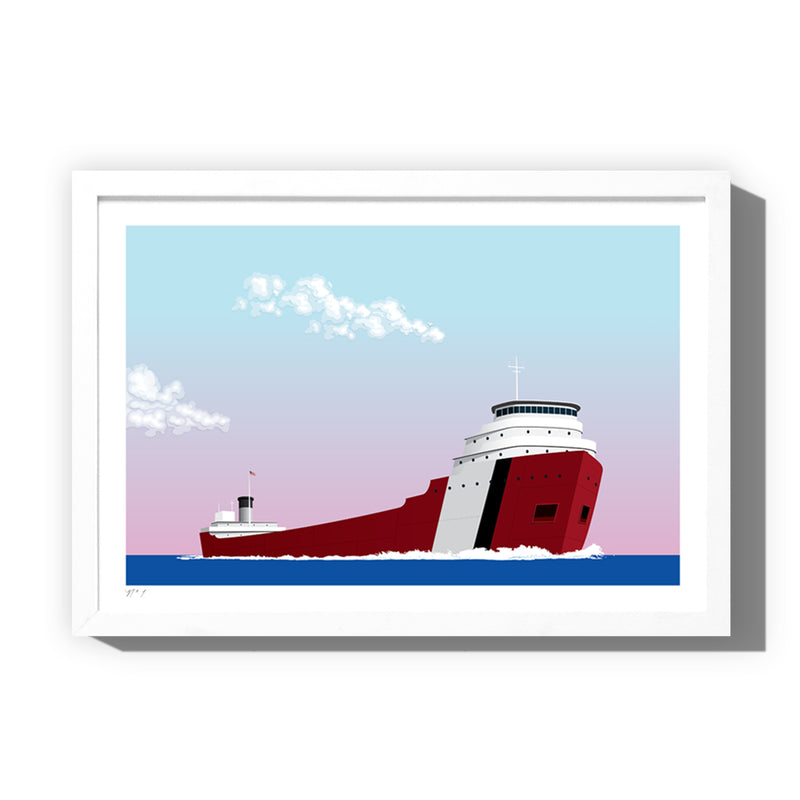 Great Lakes Freighter Art Print