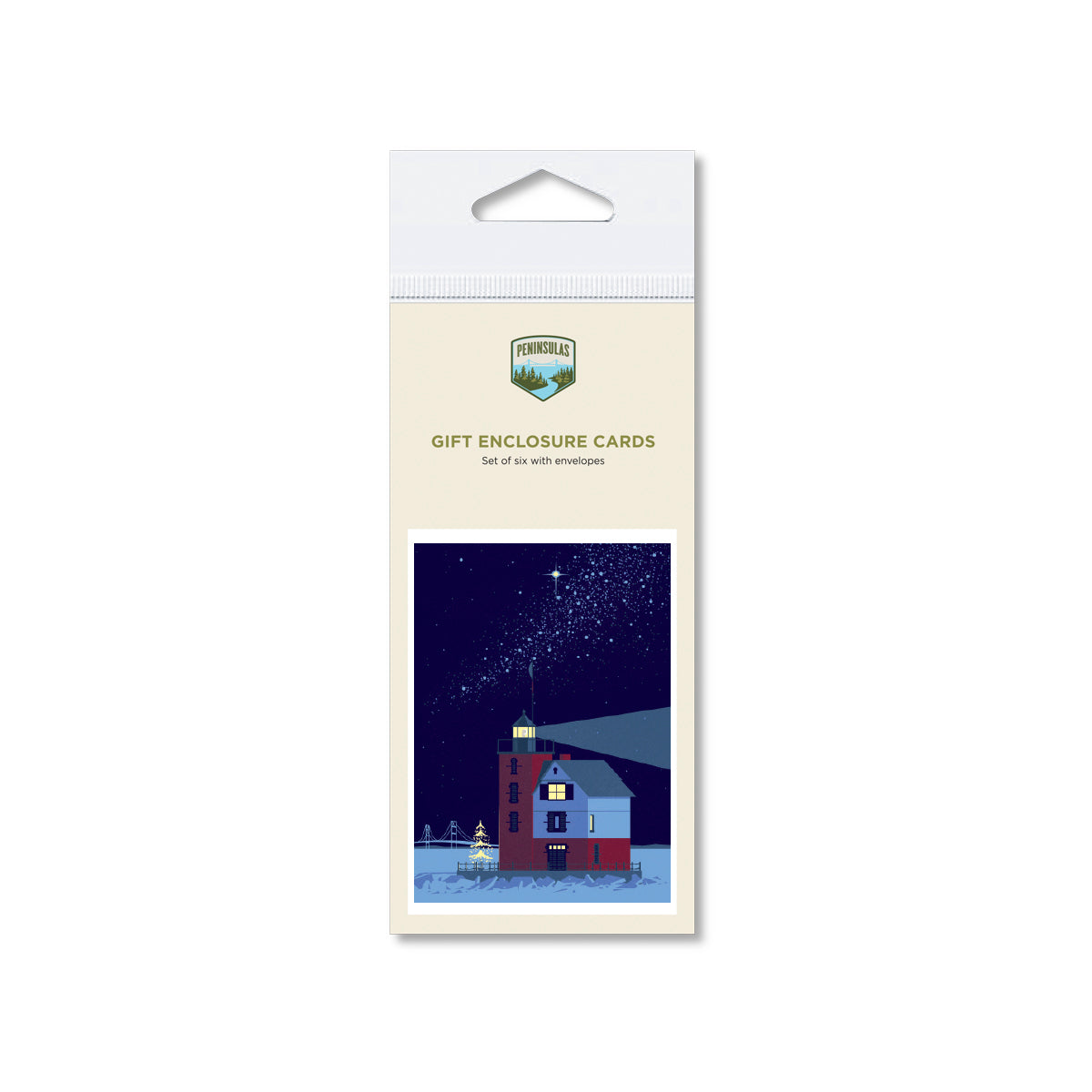 Round Island Lighthouse Gift Enclosure Cards