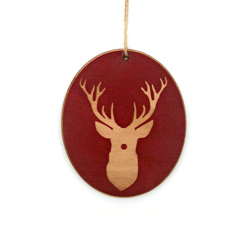 Rudolph Wood Ornament