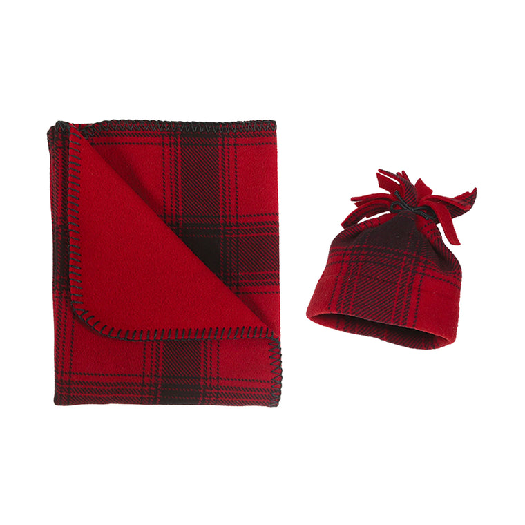 SK Newborn Bundle - Red & Black Plaid