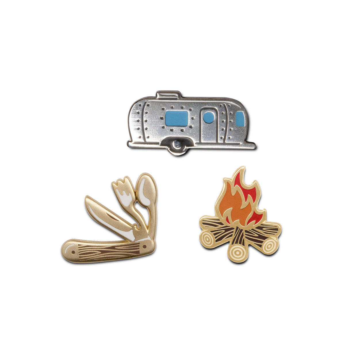 Set of Three Enamel Pins
