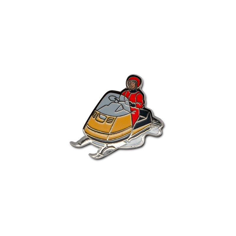 Snowmobile Enamel Pin
