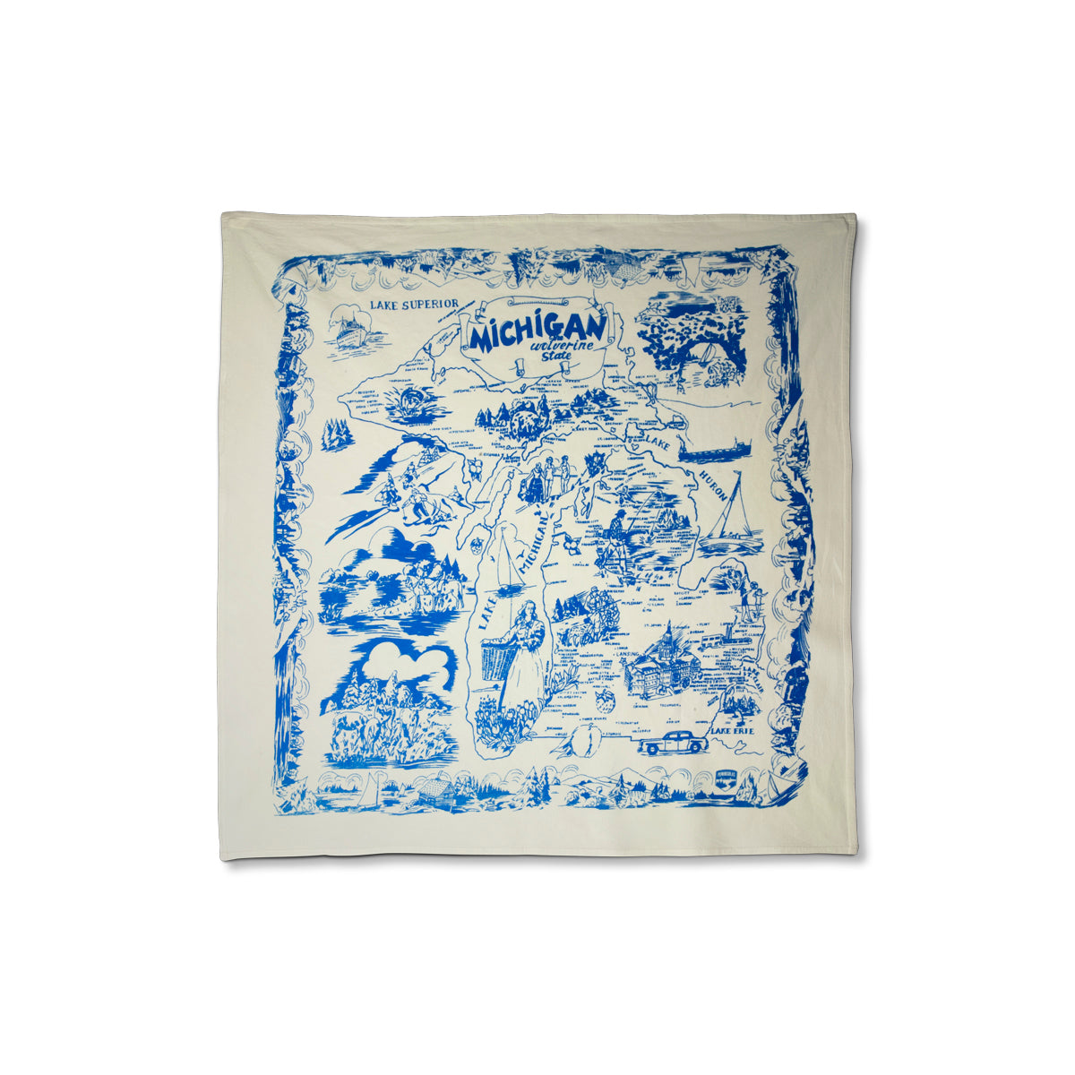 Square Michigan Flour Sack Towel