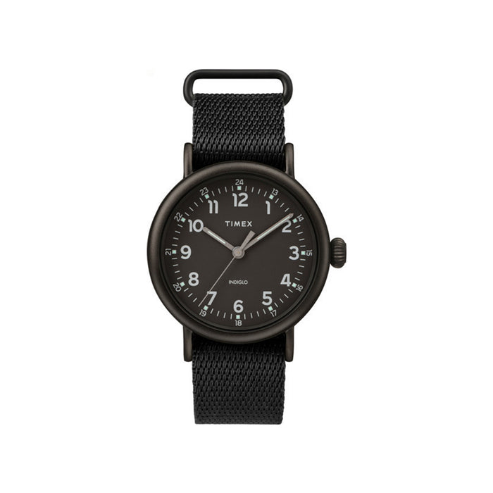 Standard 40mm Timex Watch - Black Fabric Strap