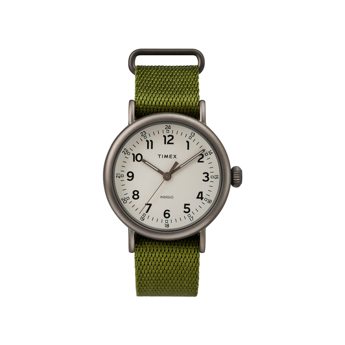 Standard 40mm Timex Watch - Olive Fabric Strap