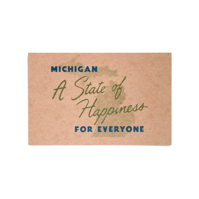 State of Happiness Kraft Postcard