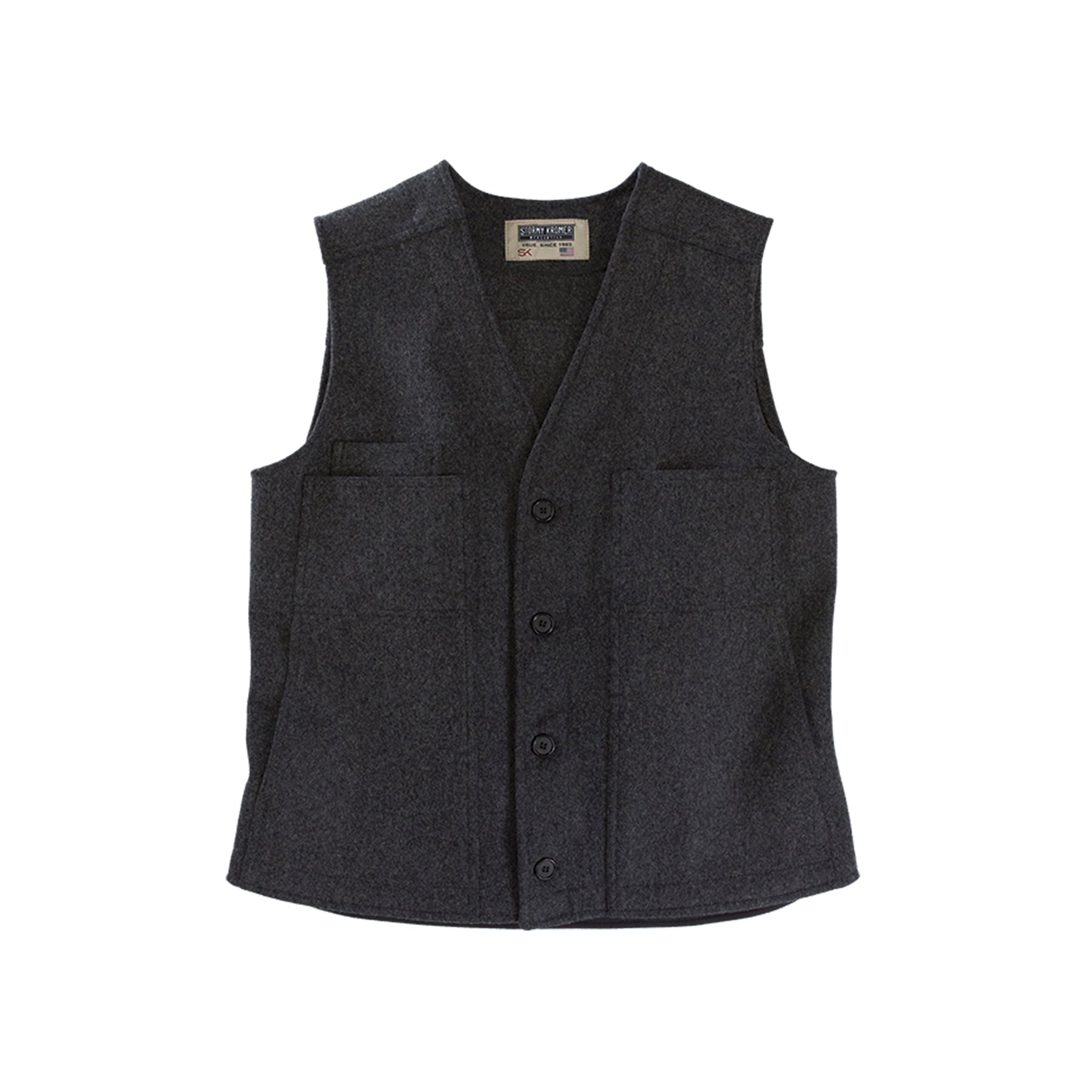 Stormy Kromer Button Vest - Charcoal