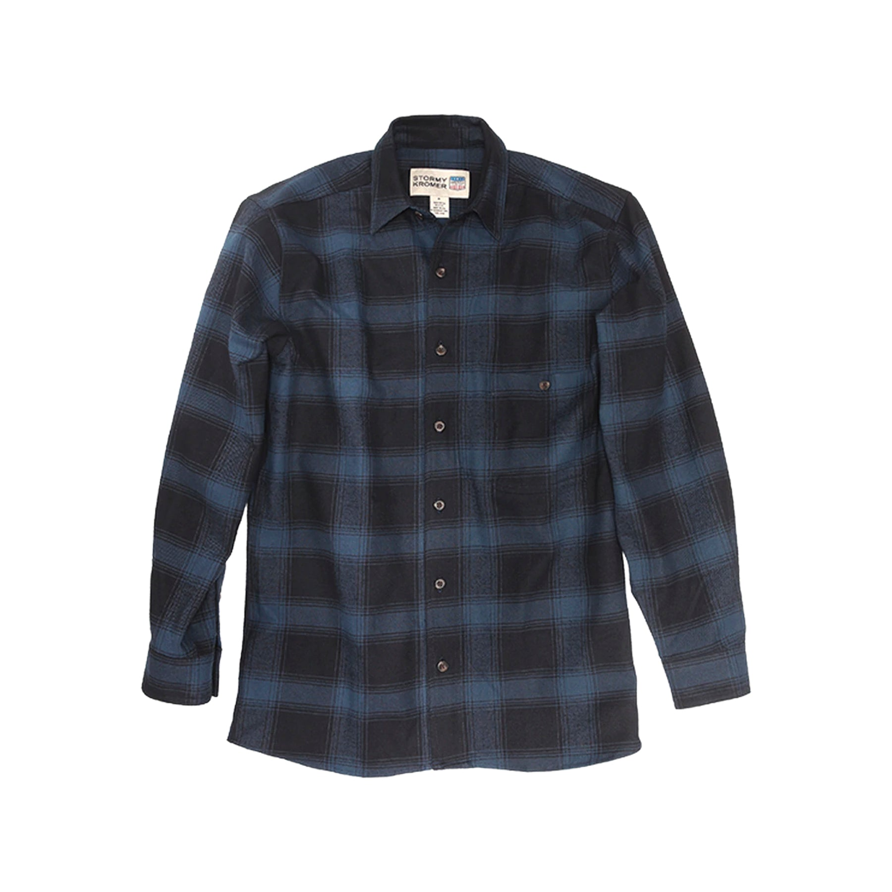 Stormy Kromer Flannel Shirt - Black & Indigo Plaid