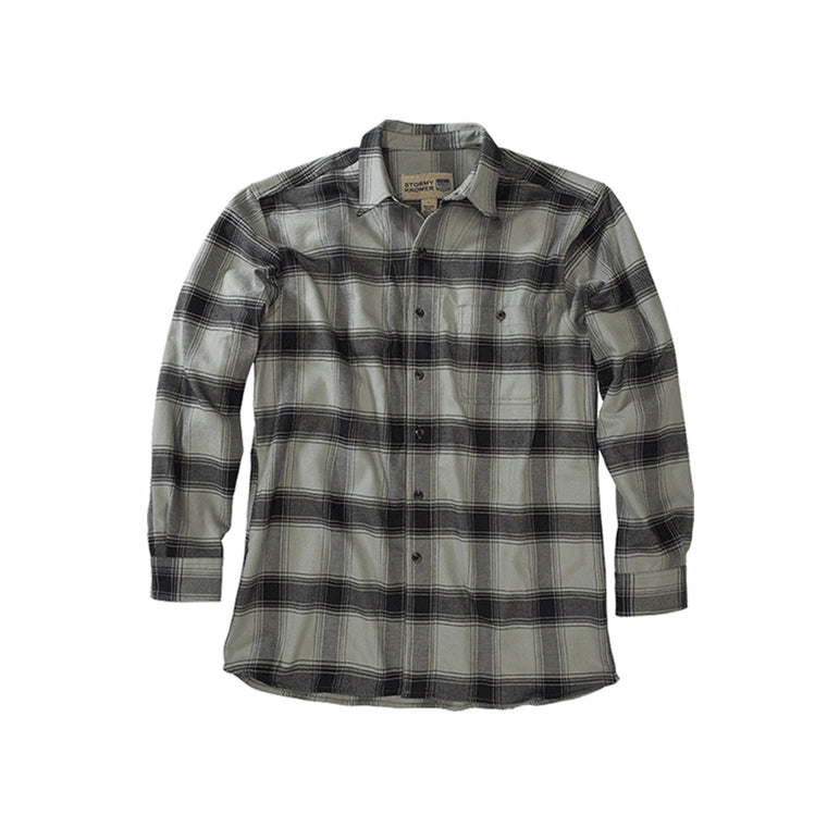 Stormy Kromer Flannel Shirt - Gray & Black Plaid
