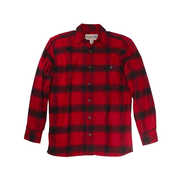 Stormy Kromer Flannel Shirt - Red & Black Plaid
