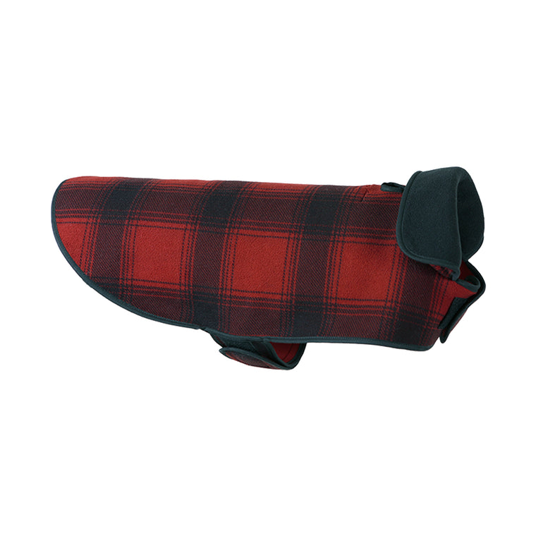 Stormy Kromer Fleece Dog Jacket - Red & Black Plaid