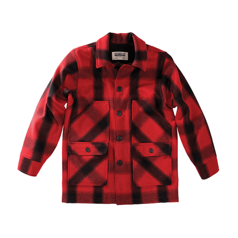 Stormy Kromer Mackinaw Coat - Red & Black Plaid