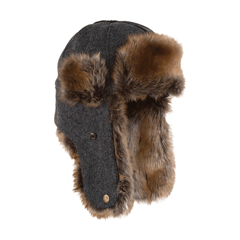 Northwoods Trapper Hat - Charcoal