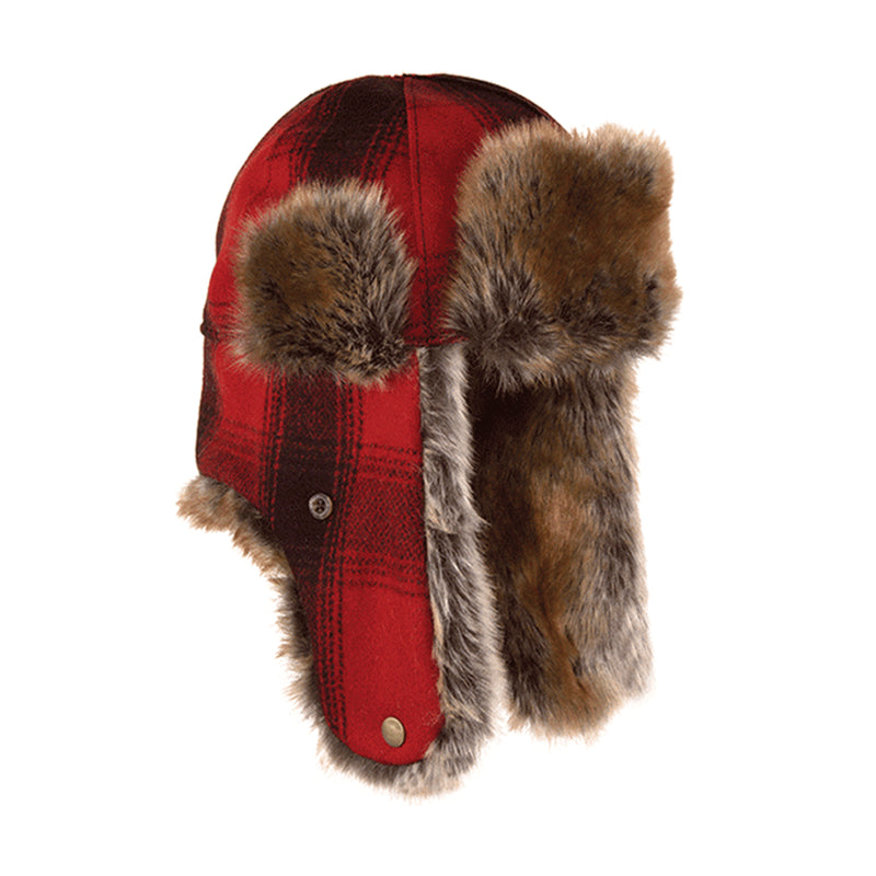 adffbdd3201455 Red & Black Plaid Northwoods Trapper Hat by Michigan's Stormy Kromer ...