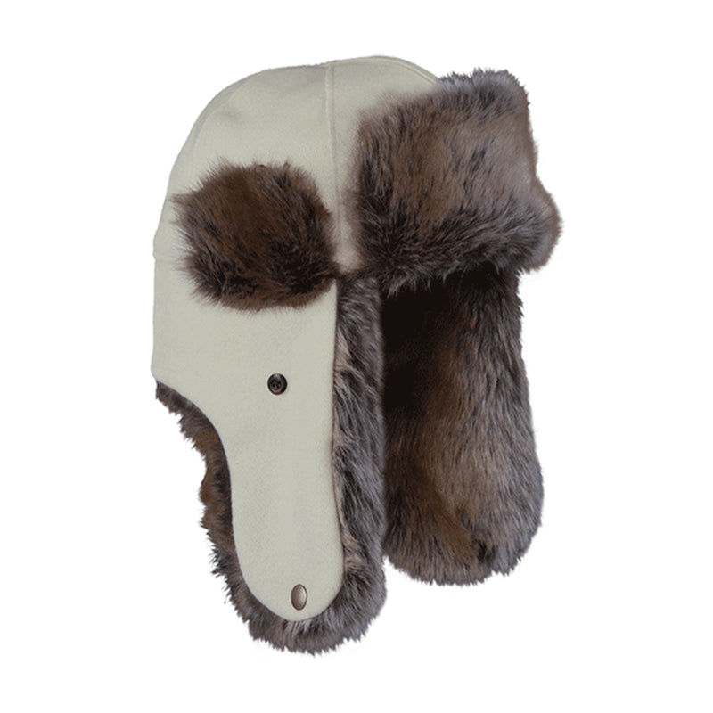 Northwoods Trapper Hat - White