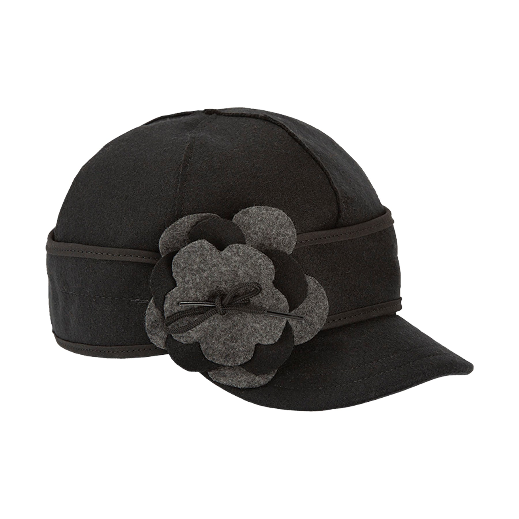 Stormy Kromer Petal Pusher Cap - Black & Charcoal