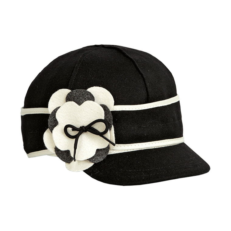 Stormy Kromer Petal Pusher Cap - Black & White