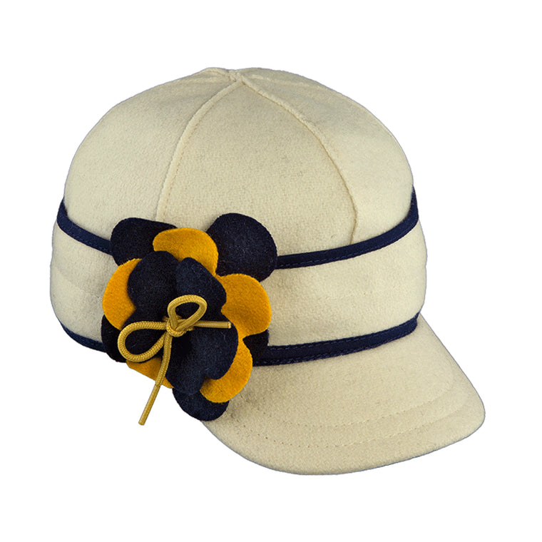 Stormy Kromer Petal Pusher Cap - Navy & Gold