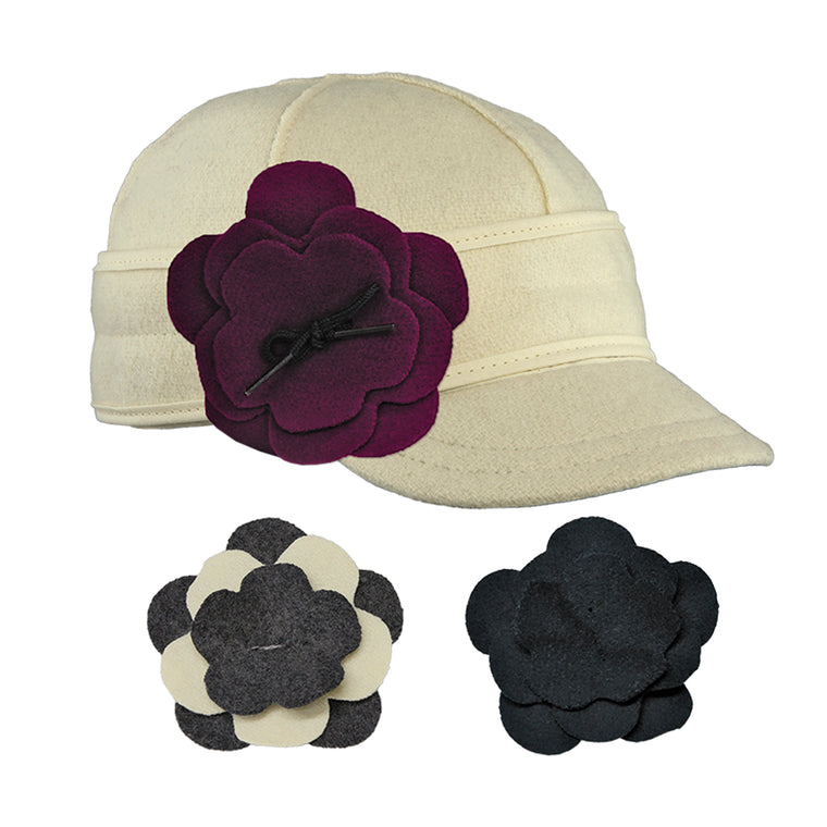 Stormy Kromer Petal Pusher Cap Set - Winter White
