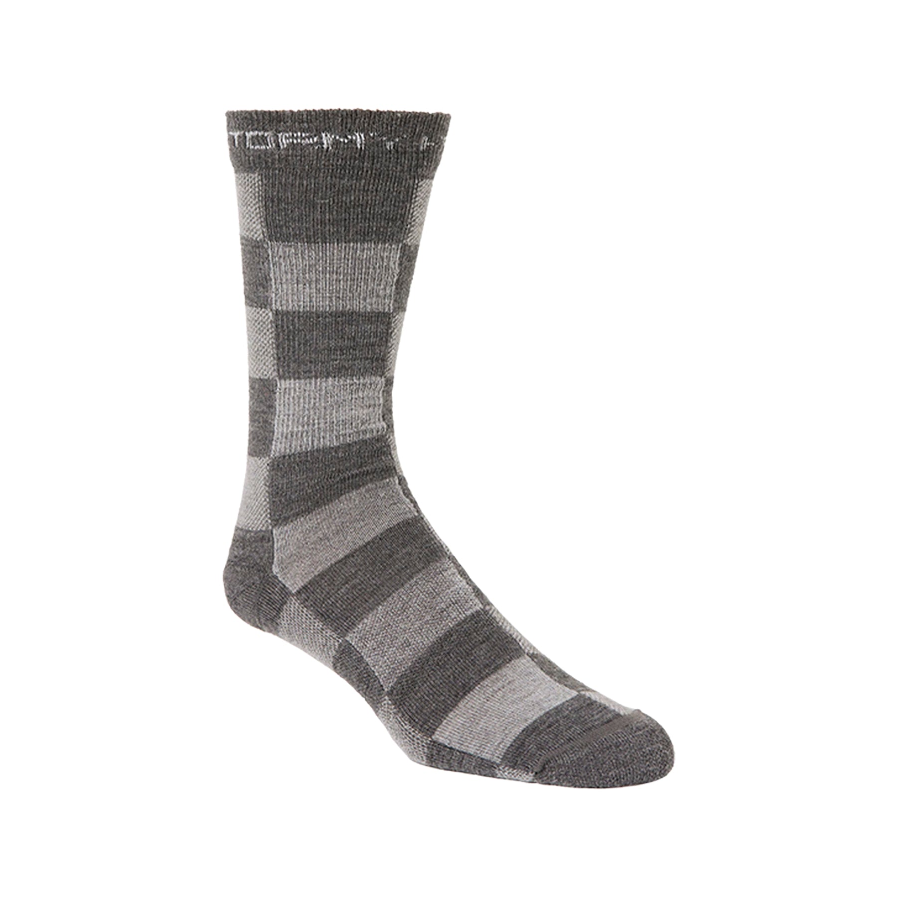 Stormy Kromer Gray Buffalo Check Lightweight Crew Socks