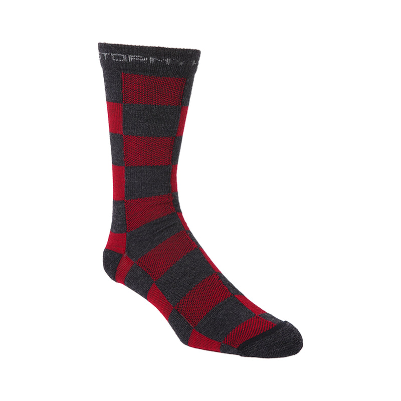 Stormy Kromer Red Buffalo Check Lightweight Crew Socks