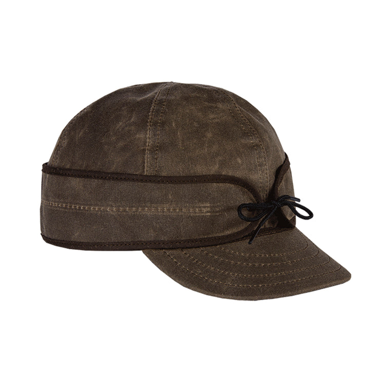 Stormy Kromer Waxed Cotton Cap - Dark Oak