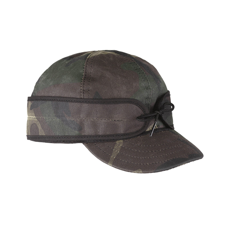 Stormy Kromer Waxed Cotton Cap - Woodland Camo