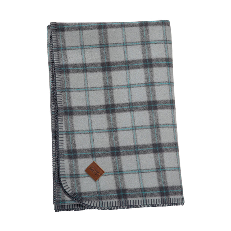 Stormy Kromer Wool Blanket - Frost Plaid