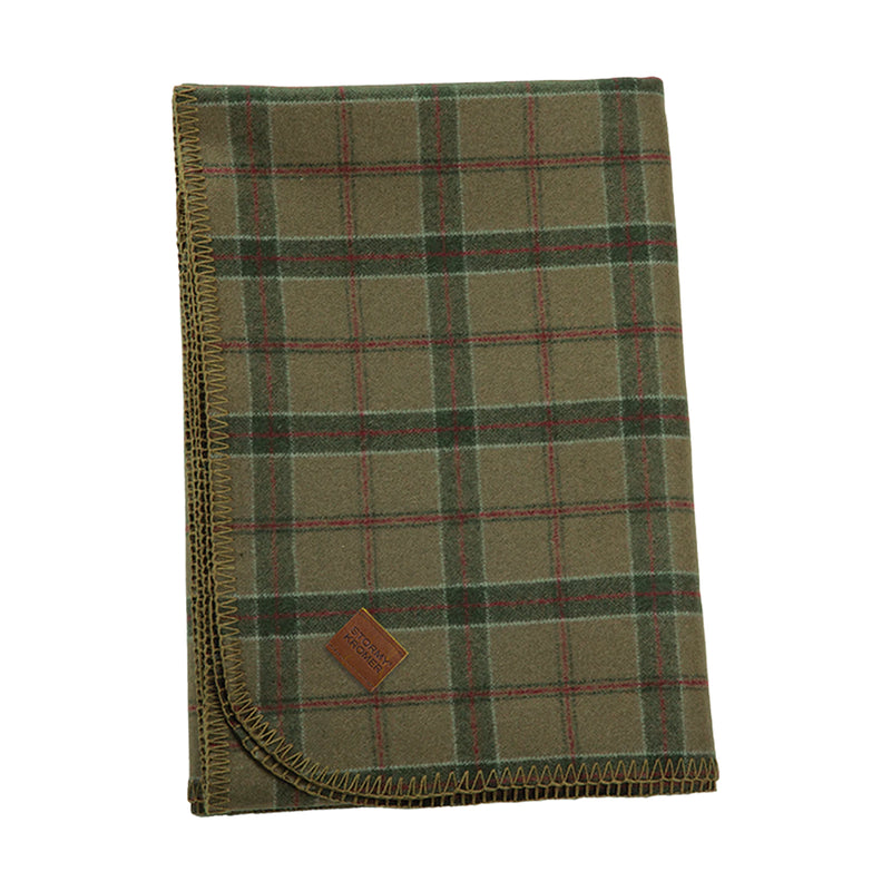 Stormy Kromer Wool Blanket - Red Pine Plaid
